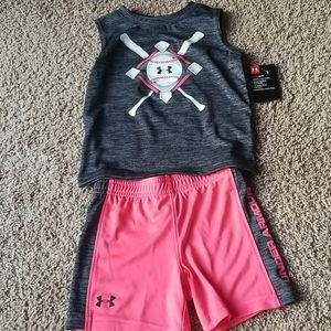 NWT Under Armour Boys 2T Short and Tank Outfit